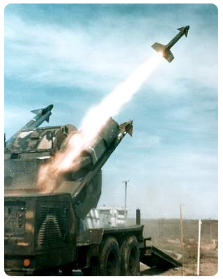 CHAPARRAL missiles being launched