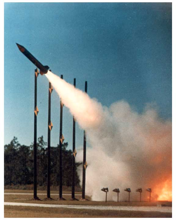 Photo of PATRIOT missile in flight.