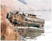 chaparral missiles on a mobile unit climbing river bank