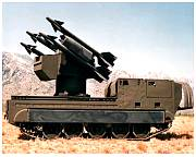 chaparral missiles on a mobile unit
